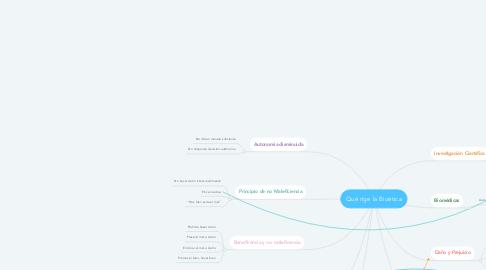 Mind Map: Qué rige la Bioética
