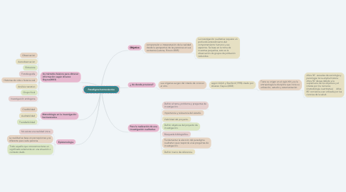 Mind Map: Paradigma hermenéutico