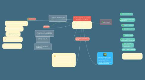Mind Map: PLAN DECENAL DE SALUD PUBLICA 2012-2021