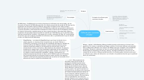"Mind Map: ""Software para reuniones virtuales"""