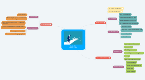 Mind Map: BUSINESS OWNERSHIP