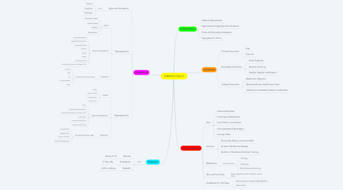 Mind Map: Diabetes Type 2