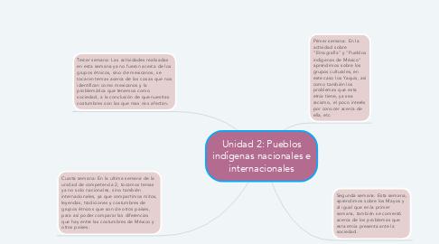 Mind Map: Unidad 2: Pueblos indígenas nacionales e internacionales