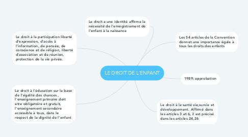 Mind Map: LE DROIT DE L'ENFANT