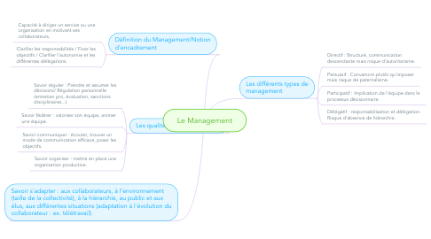 Mind Map: Le Management