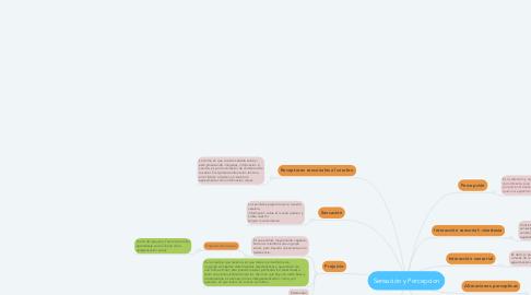 Mind Map: Sensación y Percepcion