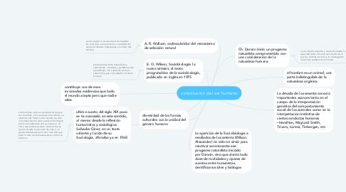 Mind Map: constitución del ser humano