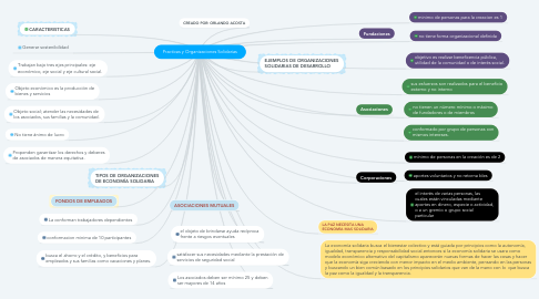 Mind Map: Practicas y Organizaciones Solidarias