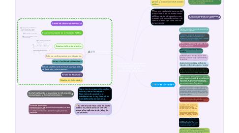 Mind Map: Atribuciones y funciones en el área contable y financiera al interior de las instituciones de gobierno.