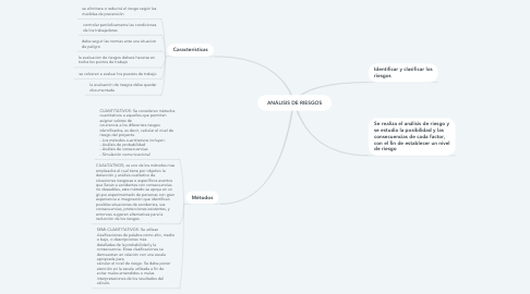 Mind Map: ANÁLISIS DE RIESGOS