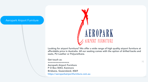 Mind Map: Aeropark Airport Furniture