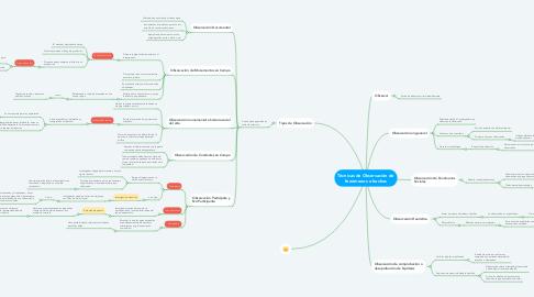 Mind Map: Técnicas de Observación de fenómenos o hechos