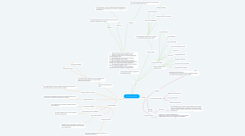 Mind Map: Tipos de percepción