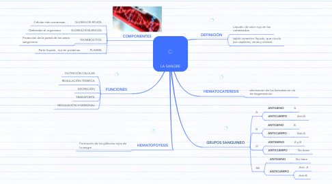 Mind Map: LA SANGRE