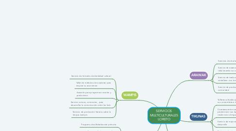 Mind Map: SERVICIOS MULTICULTURALES LORETO