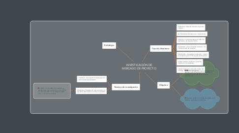 Mind Map: INVESTIGACIÓN DE MERCADO DE PROYECTO