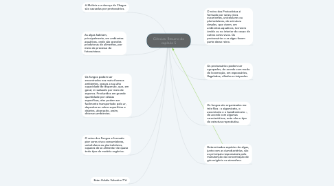 Mind Map: Ciências: Resumo do capítulo 5