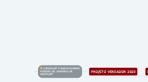 Mind Map: PROJETO VEREADOR 2020