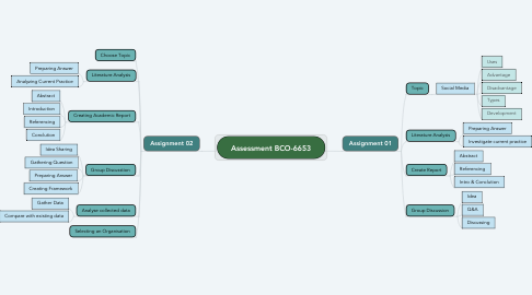 Mind Map: Assessment BCO-6653