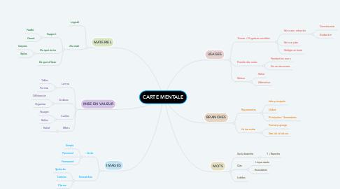Mind Map: CARTE MENTALE