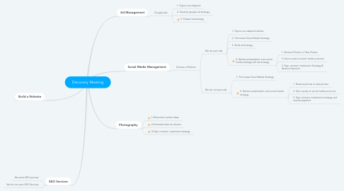Mind Map: Discovery Meeting