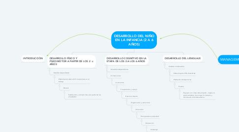 Mind Map: DESARROLLO DEL NIÑO EN LA INFANCIA (2 A 6 AÑOS)