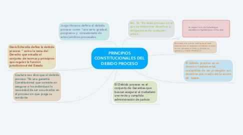 Mind Map: PRINCIPIOS CONSTITUCIONALES DEL DEBIDO PROCESO