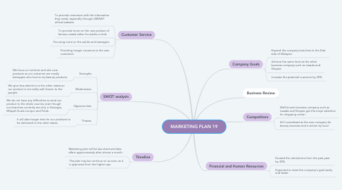 Mind Map: MARKETING PLAN 19