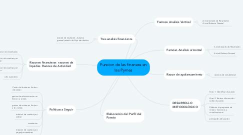 Mind Map: Funcion de las finanzas en las Pymes