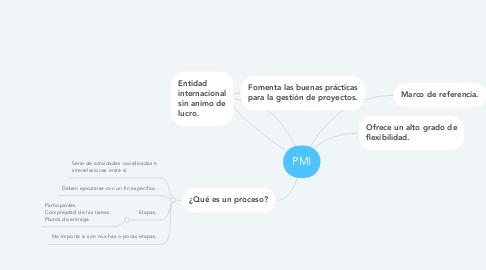 Mind Map: PMI