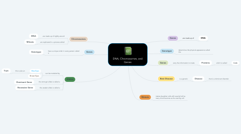 Mind Map: DNA, Chromosomes, and Genes