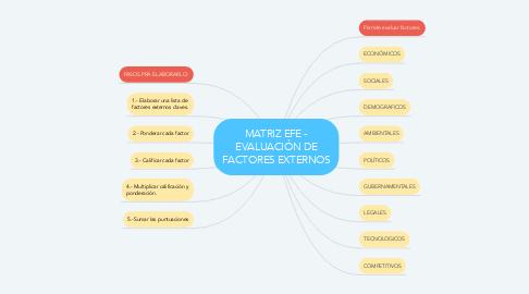Mind Map: MATRIZ EFE - EVALUACIÓN DE FACTORES EXTERNOS