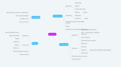 Mind Map: Micobacterias