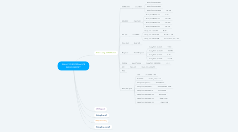 Mind Map: BLANC PERFORMANCE DAILY REPORT