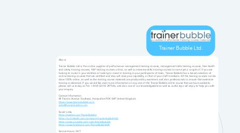Mind Map: Trainer Bubble Ltd.