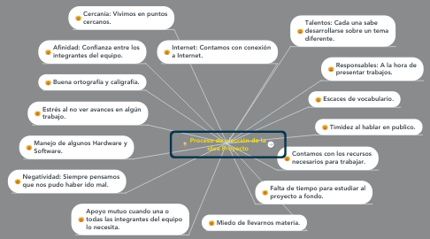 Mind Map: Proceso de elección de la idea Proyecto
