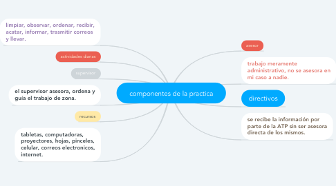 Mind Map: componentes de la practica