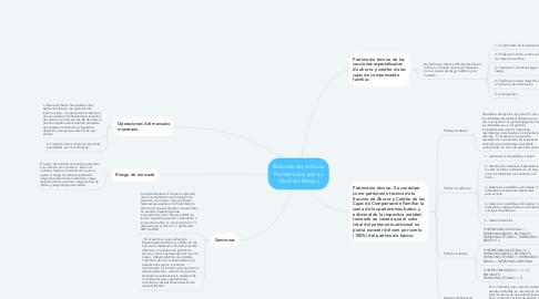 Mind Map: Relación de Activos Ponderados por su Nivel de Riesgo