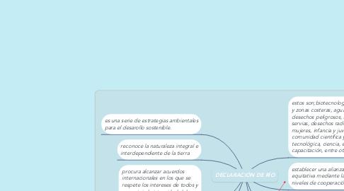 Mind Map: DECLARACIÓN DE RÍO