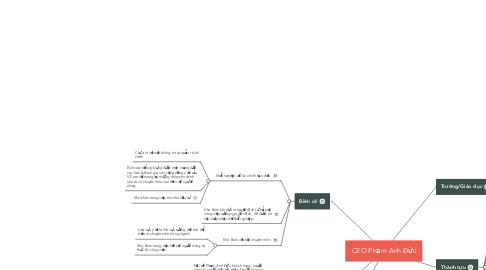 Mind Map: CEO Phạm Anh Đức