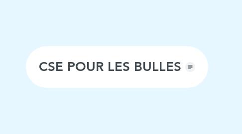 Mind Map: CSE POUR LES BULLES