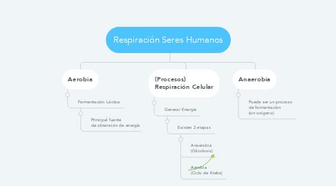 Mind Map: Respiración Seres Humanos
