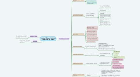 Mind Map: NORMA TÉCNICA PARA LA ATENCIÓN DEL PARTO