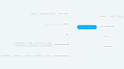 Mind Map: learner centered learning