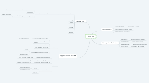 Mind Map: Law Of Tort