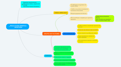 Mind Map: REGULACIÓN GENÉTICA APOPTOSIS