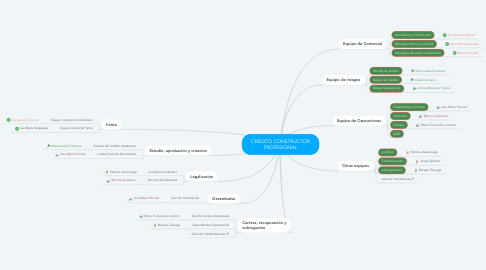 Mind Map: CRÉDITO CONSTRUCTOR PROFESIONAL