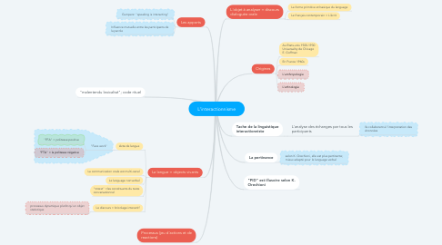Mind Map: L'interactionnisme