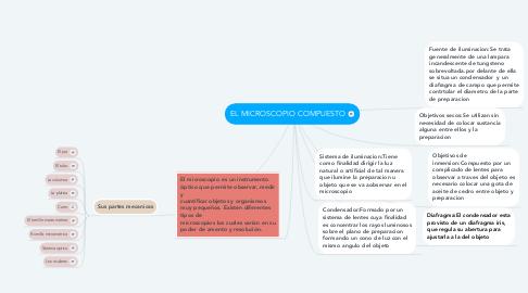 Mind Map: EL MICROSCOPIO COMPUESTO