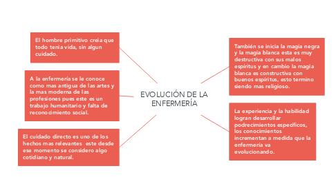 Mind Map: EVOLUCIÓN DE LA ENFERMERÍA